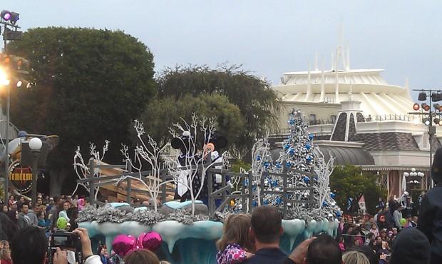 A Christmas Fantasy Parade making its way through the hub