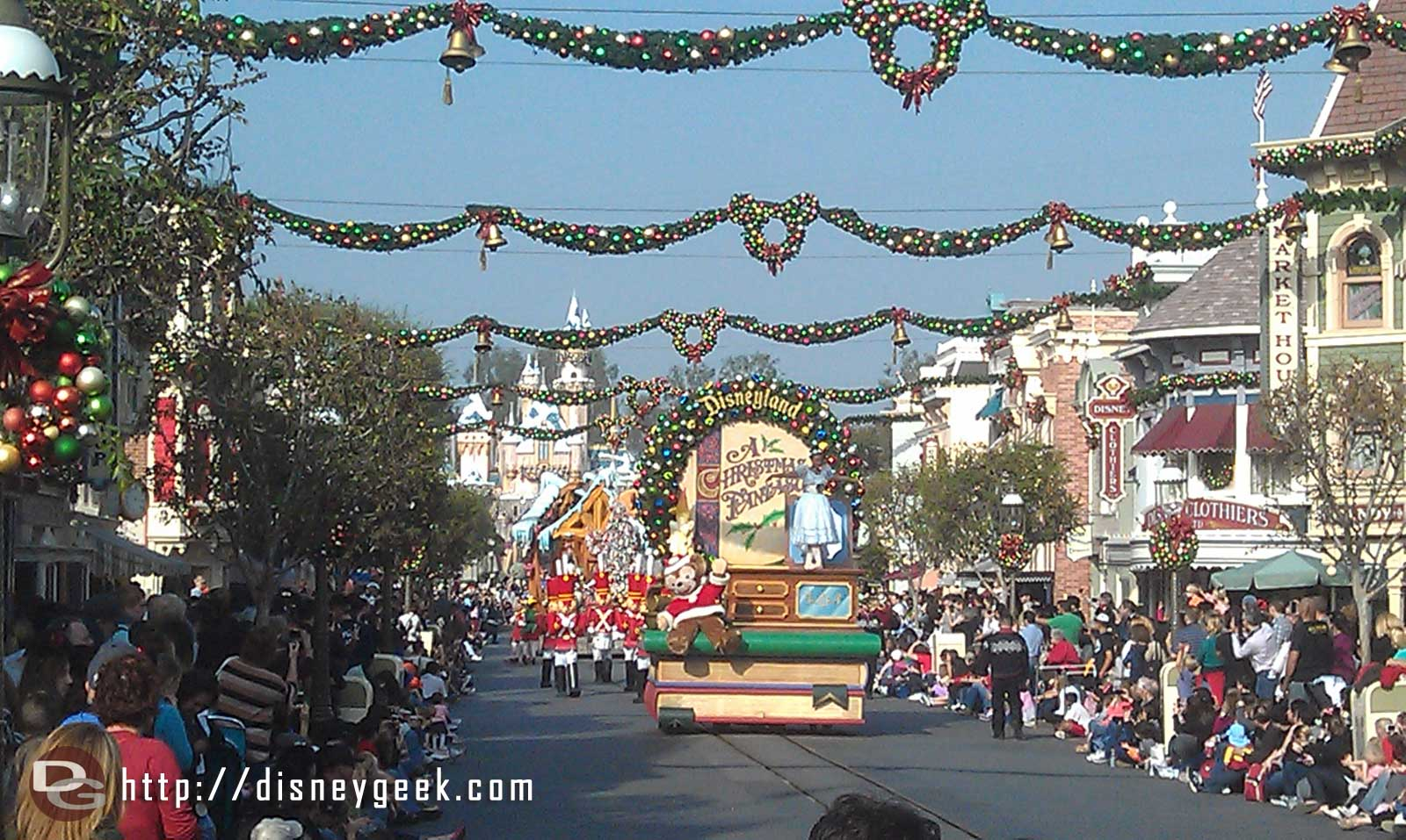 A Christmas Fantasy parade making its way down Main Street.