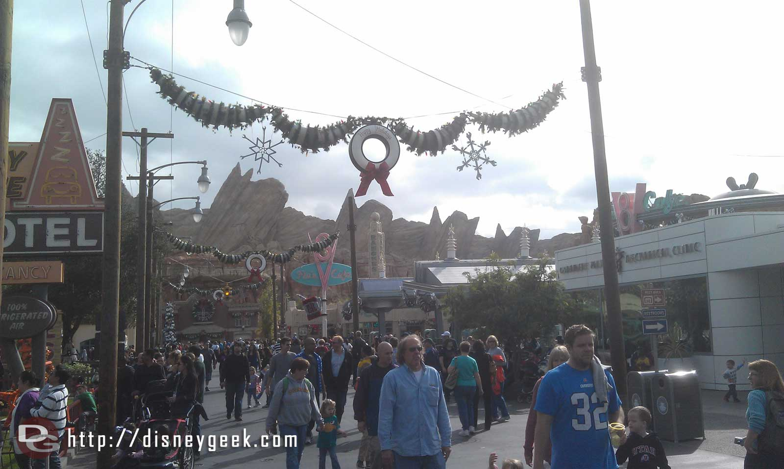 A look down Route 66 in #CarsLand as the sun is just coming out