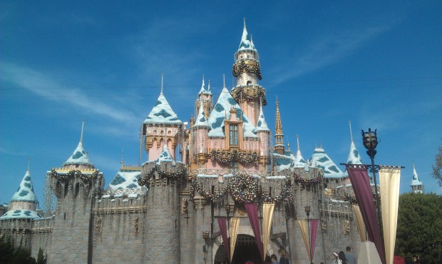 A picture perfect afternoon today, Sleeping Beauty Castle