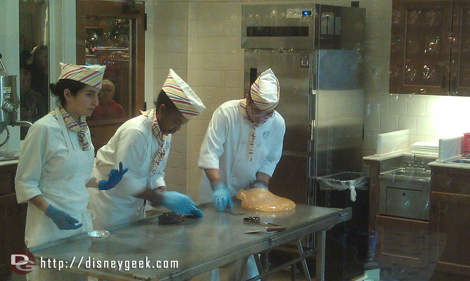 Candy Canes being made on #BuenaVistaStreet today.