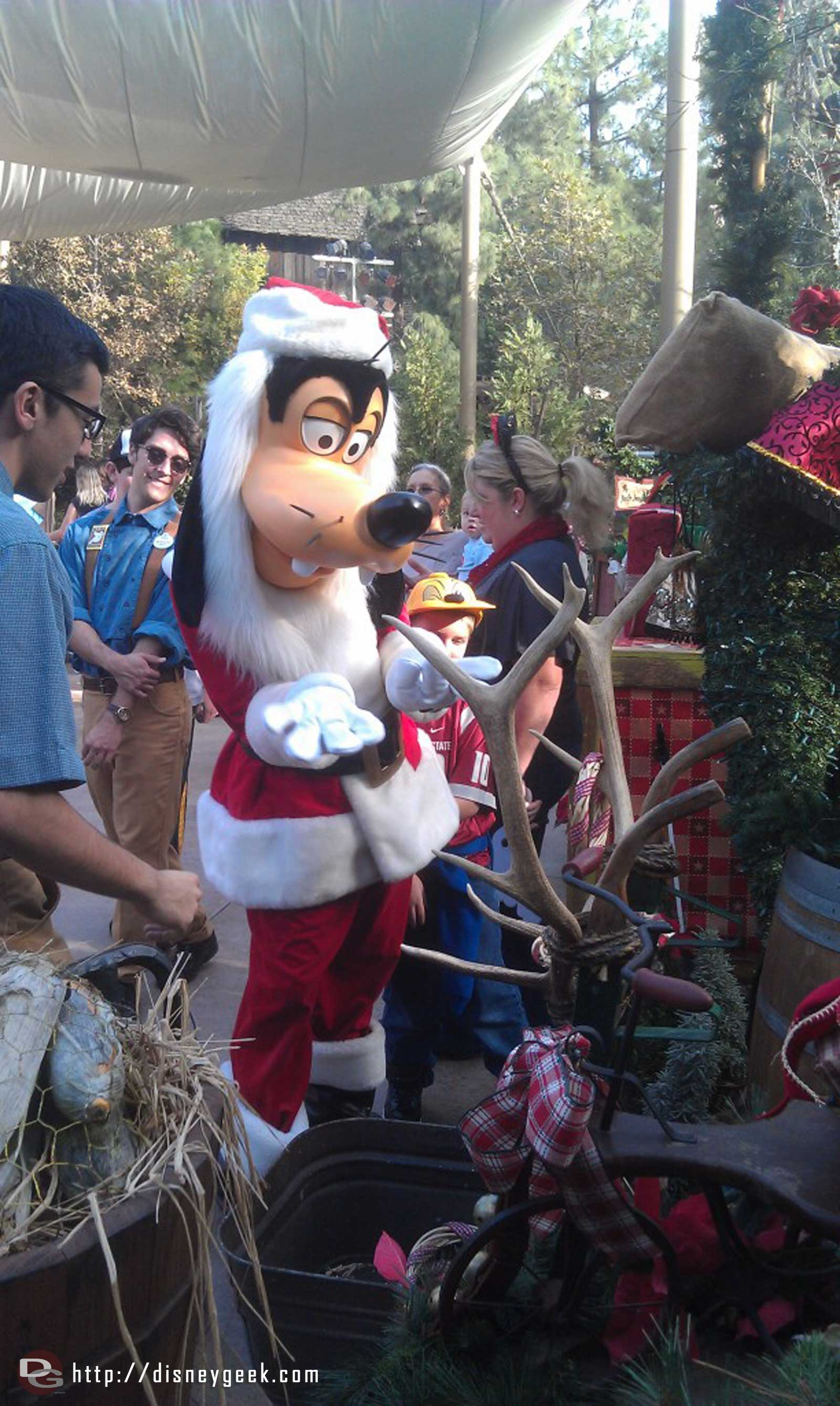 Goofy playing some Reindeer Games at the Jingle Jangle Jamboree.