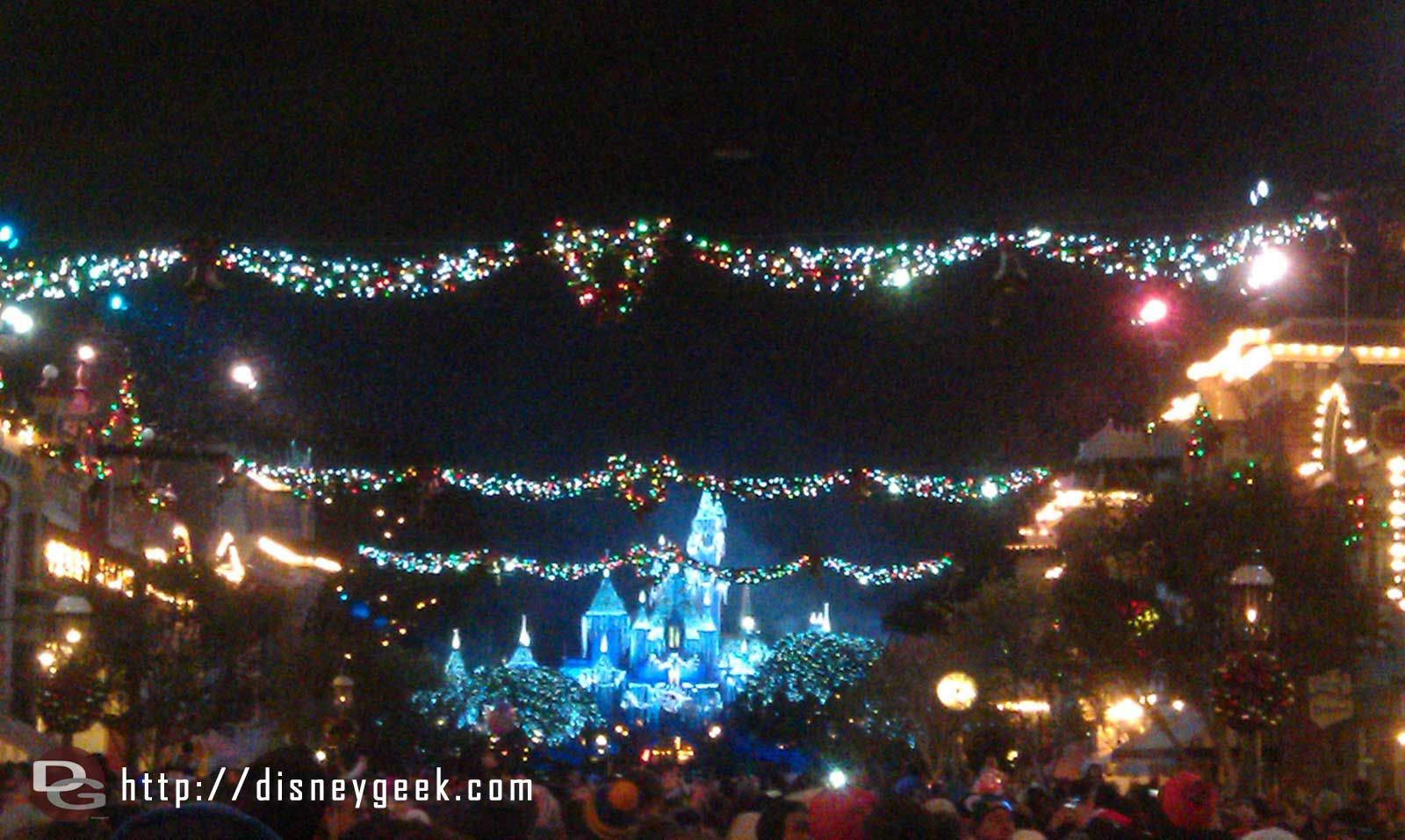Looking toward the Castle during White Christmas