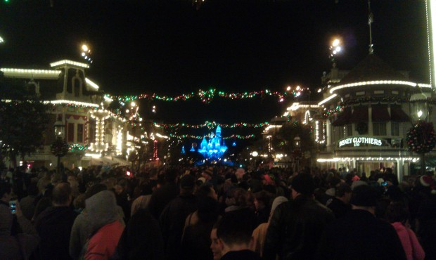 On Main Street waiting for Believe in Holiday Magic