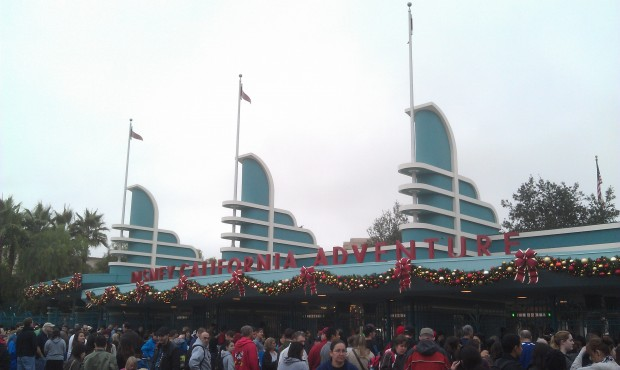 Ready for a fun day at the #Disneyland Resort, waiting to enter California Adventure