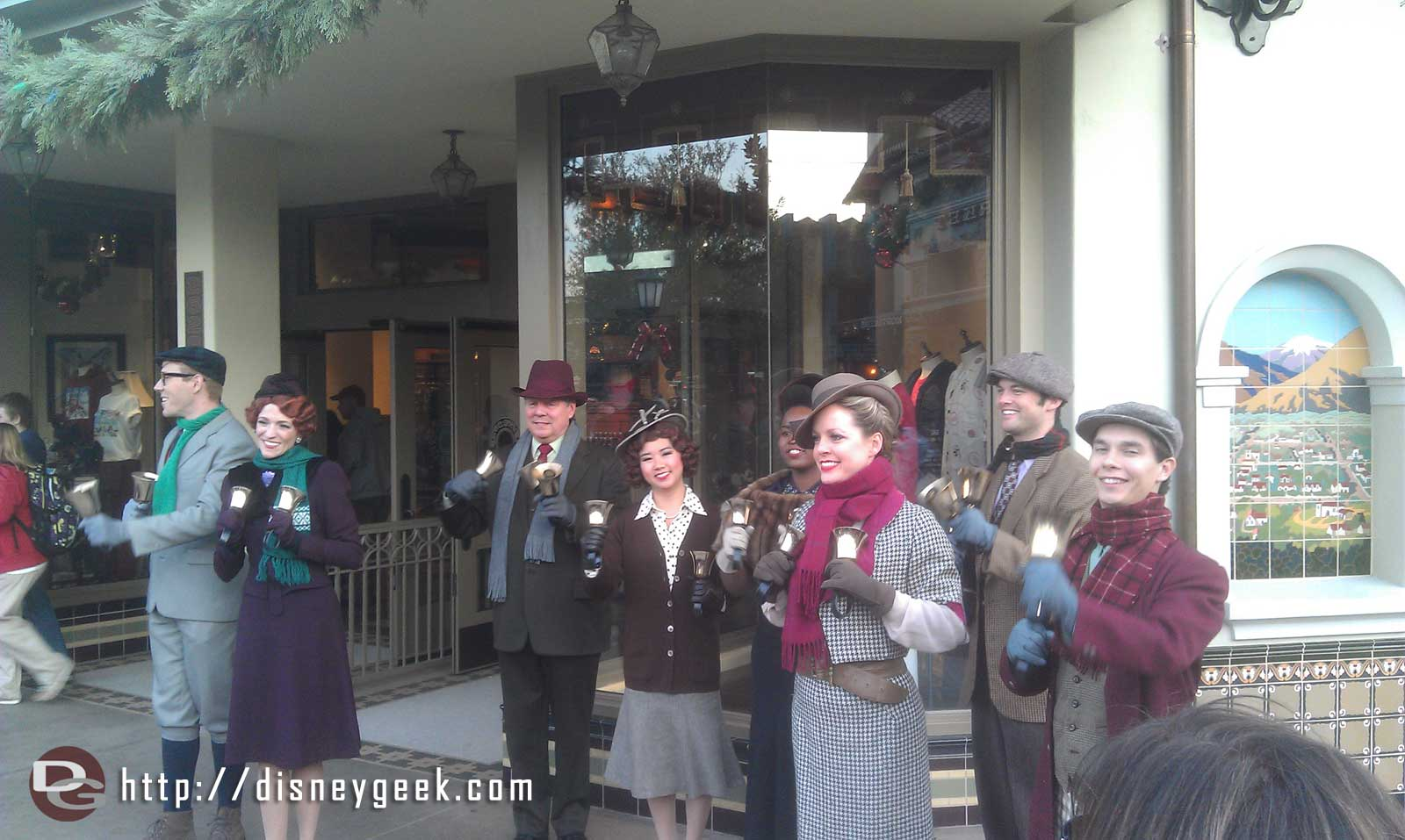 The #BuenaVistaStreet Community Bell Ringers leading a sing a long
