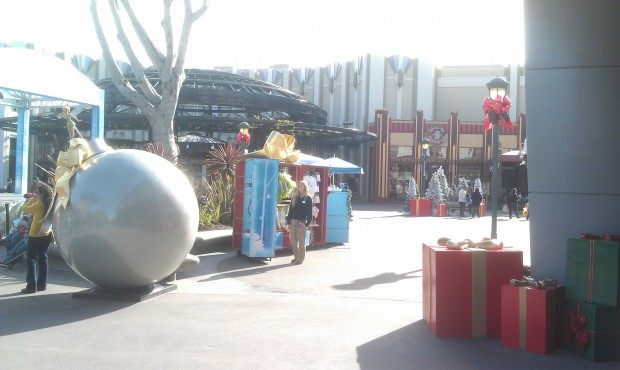 Walked through the Downtown Disney Holiday Village on my way to the parks.
