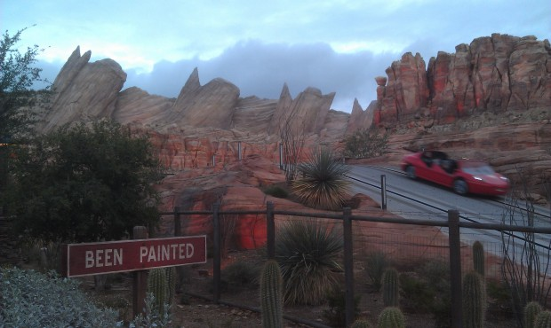 Walking through #CarsLand a look at Ornament Valley