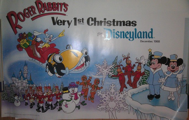 Was cleaning my closet and came across this poster from Christmas 1988 at Disneyland.