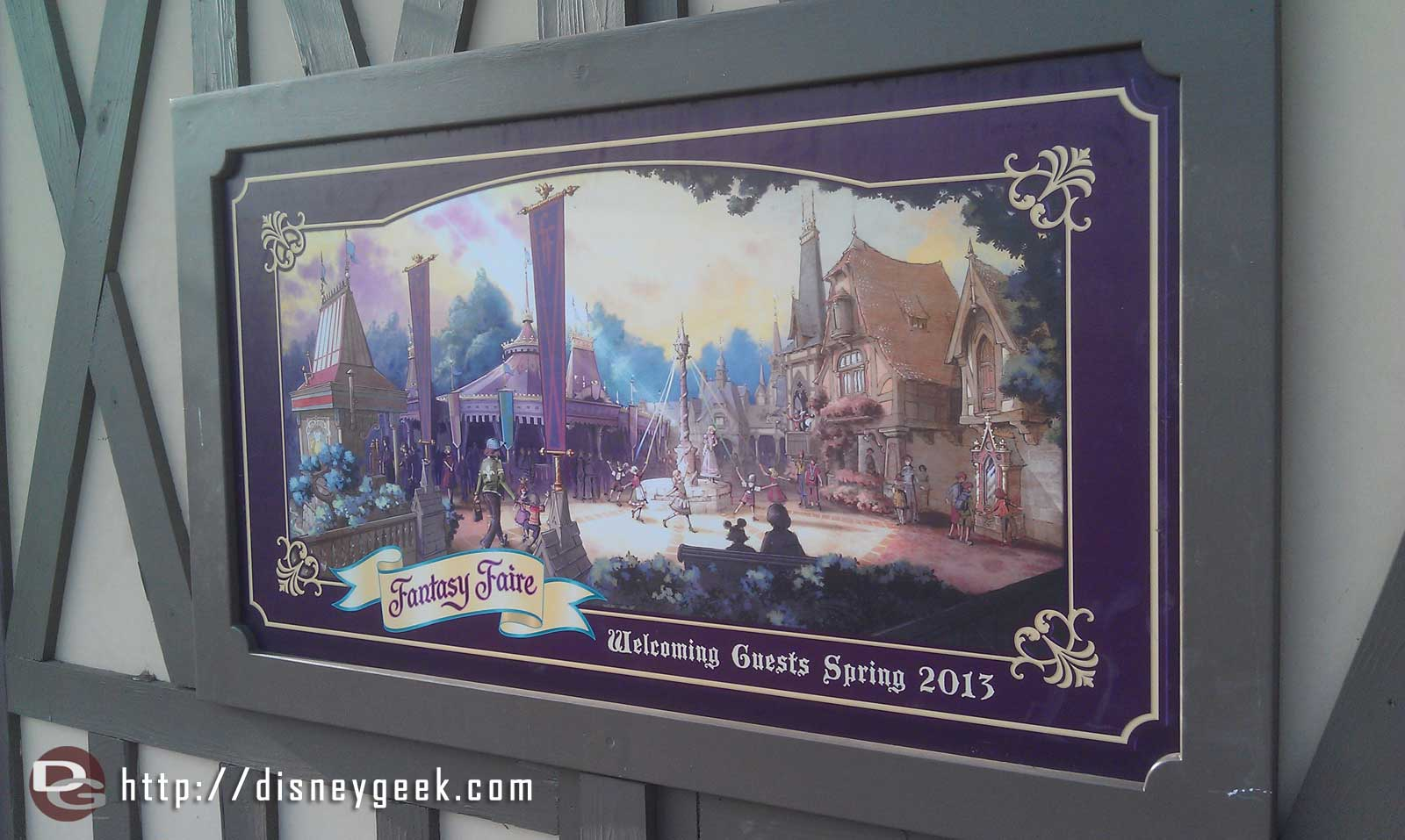 and he referenced what they saw on TV.  (it is for the new Fantasy Faire meet and greet)