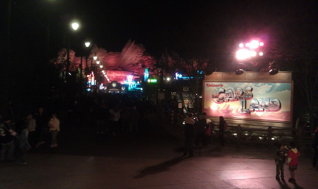 A look down Route 65 in #CarsLand from the Blue Sky Cellar Patio