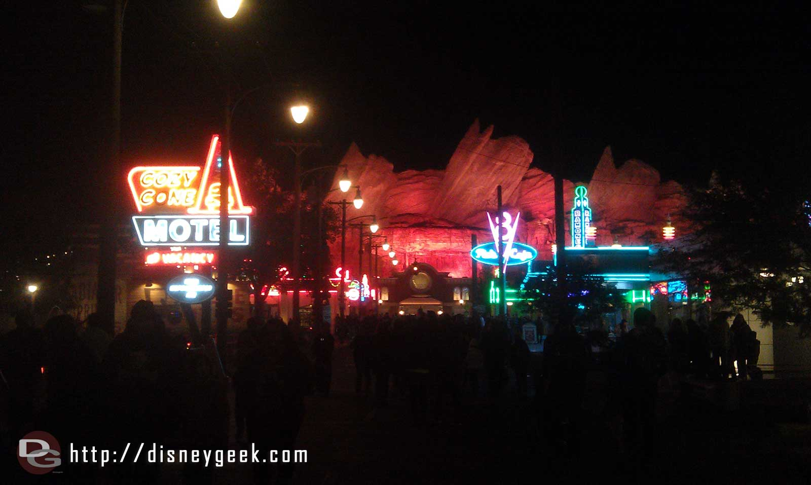 A look down Route 66 in #CarsLand this evening