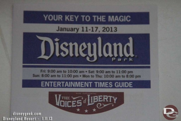 Anyone else catch the typo in the Disneyland Schedule.. taking #LimitedTimeMagic to a new level.. Hours 9am to 10am