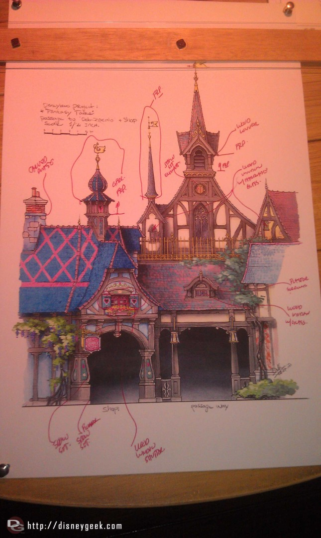 Artwork of the new store and passageway in the Fantasy Faire