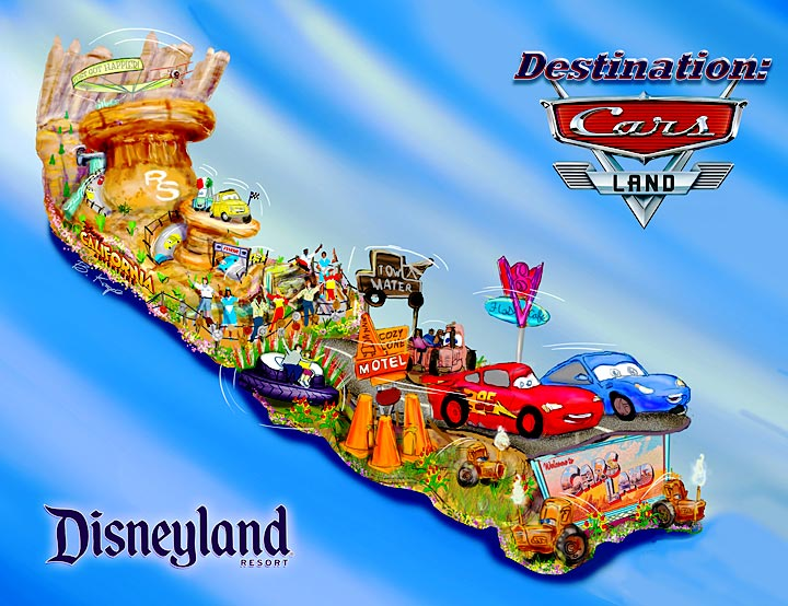 2013 Disney Rose Parade Float: Destination Cars Land