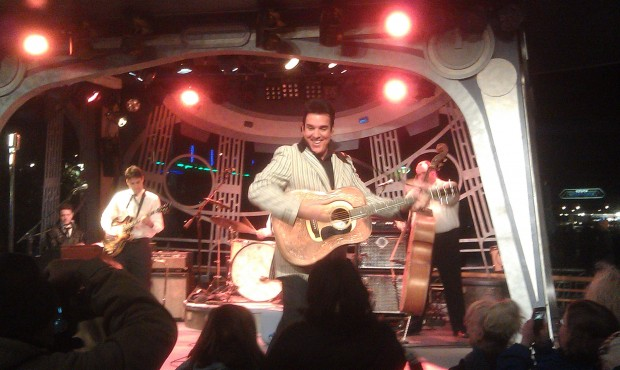 Elvis, Scot Bruce, is at the Tomorrowland Terrace tonight.