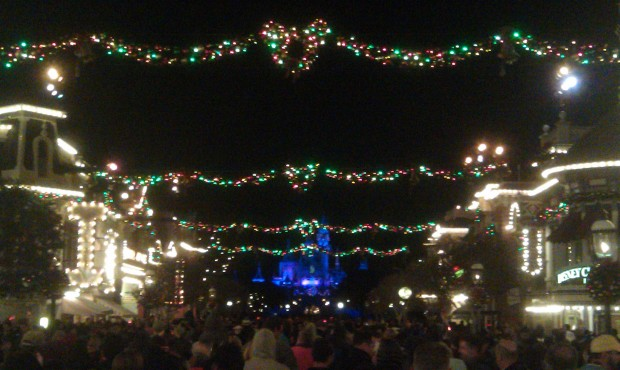 Made it to Main Street for Believe with a couple minutes to spare.
