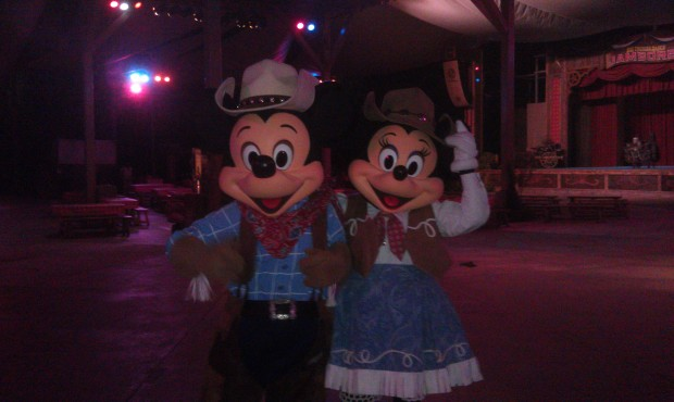 Mickey and Minnie out at the Big Thunder Ranch Jamboree