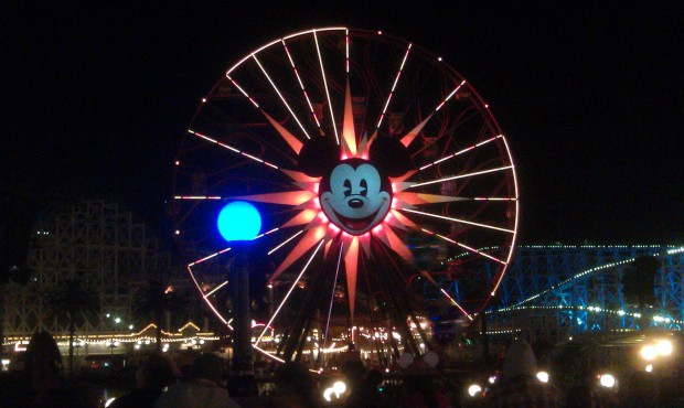 Mickeys Fun Wheel while waiting for World of Color