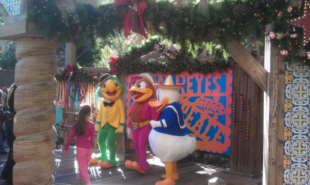 Santa is  gone and The Three Caballeros have moved in
