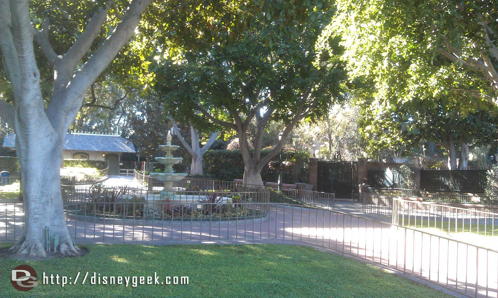 So nice to walk through the park without the crowds..  nice and quiet out by Haunted Mansion, which is closed