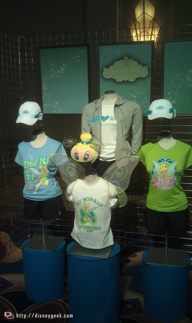Stopped by the Health and Fitness Expo, some of the Tinker Bell 1/2 Marathon merchandise