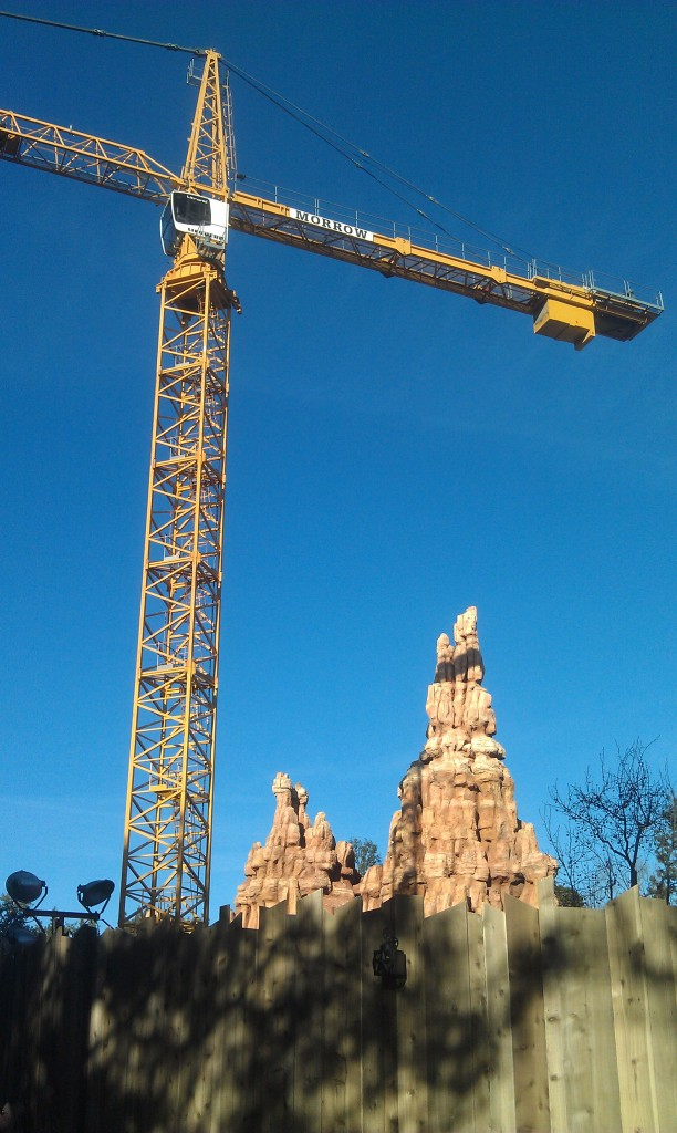 The Big Thunder Trail is open this week offering a great view of the crane.  No activity going on now.