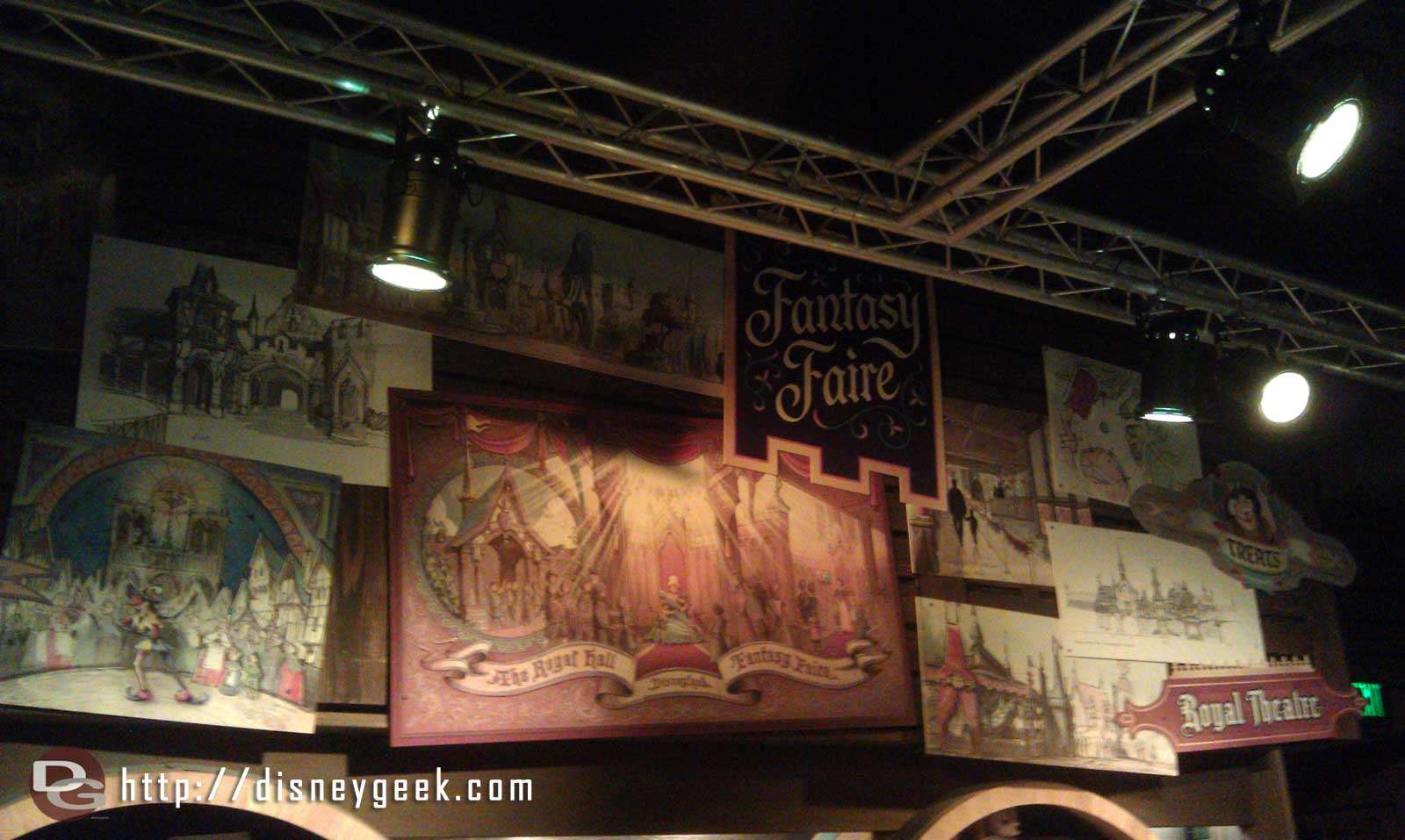 The Blue Sky Cellar Fantasy Faire exhibit is open this evening.