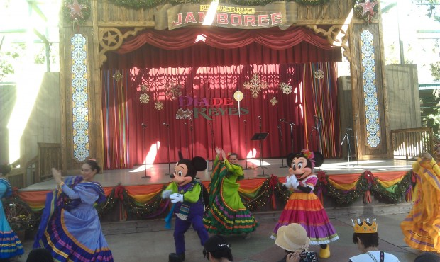 The Fiesta Street Party featuring Mickey and Minnie