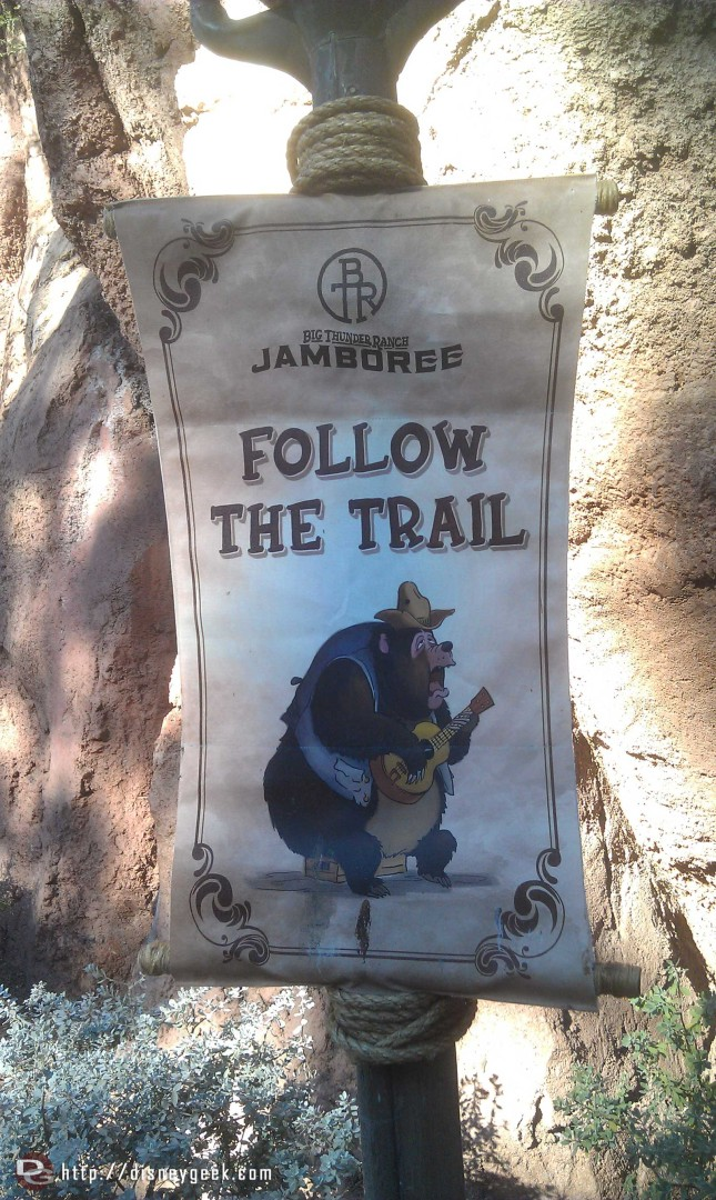 The bear signs have returned to the Big Thunder Trail for the Jamboree