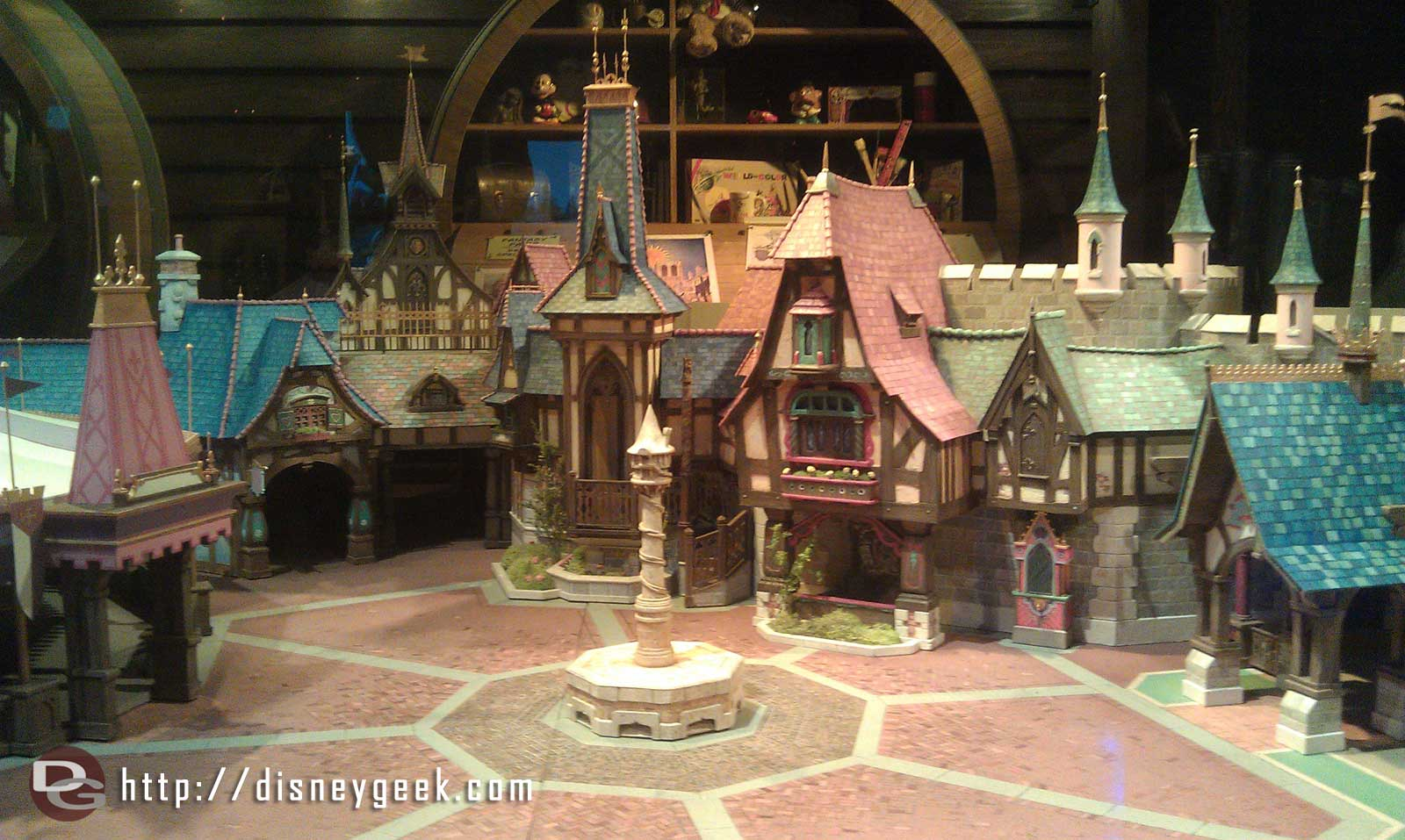 The centerpiece of the exhibit is a model of the Fantasy Faire