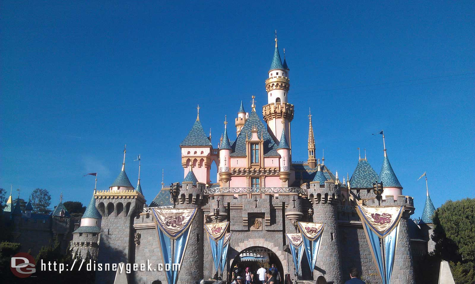 The snow on Sleeping Beauty Castle has melted away for another year