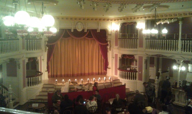 Waiting for the Salute to the Golden Horseshoe Revue to begin.