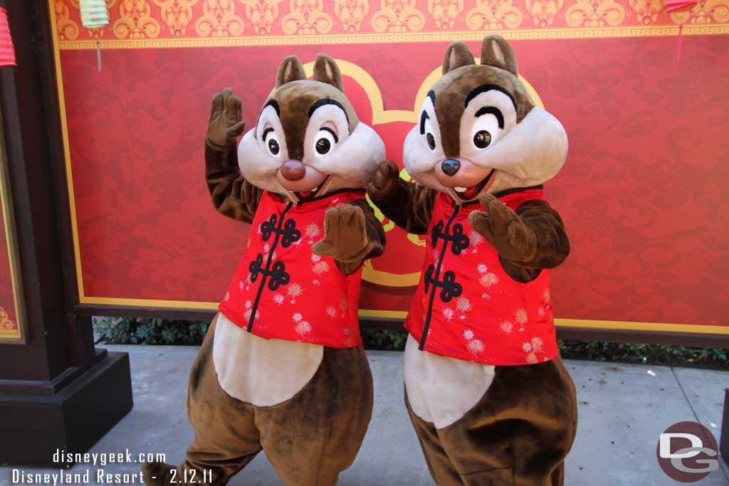 Chip & Dale at the 2011 Lunar New Year Celebration @ #Disneyland