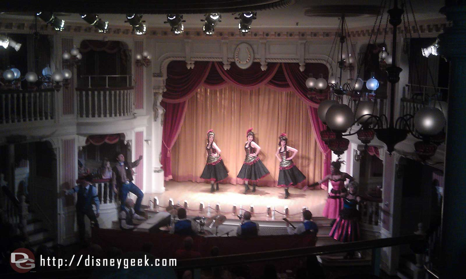 Enjoying the Tribute to the Golden Horseshoe Revue one last time.  #LimitedTimeMagic