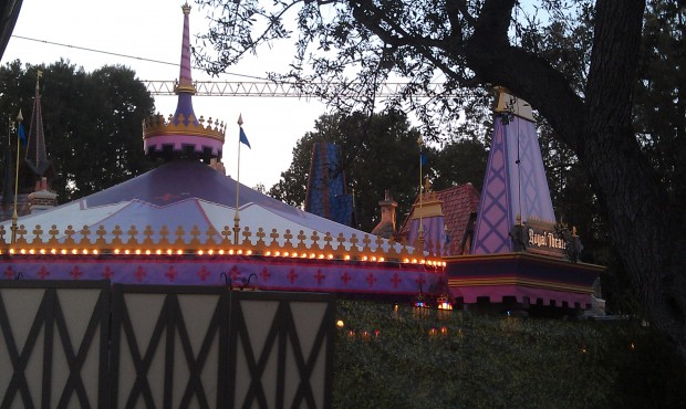 Fantasy Faire lights on this evening