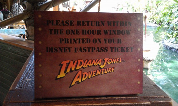 FastPass machines now have signs reminding guests of the return time policy which is going to be enforced now