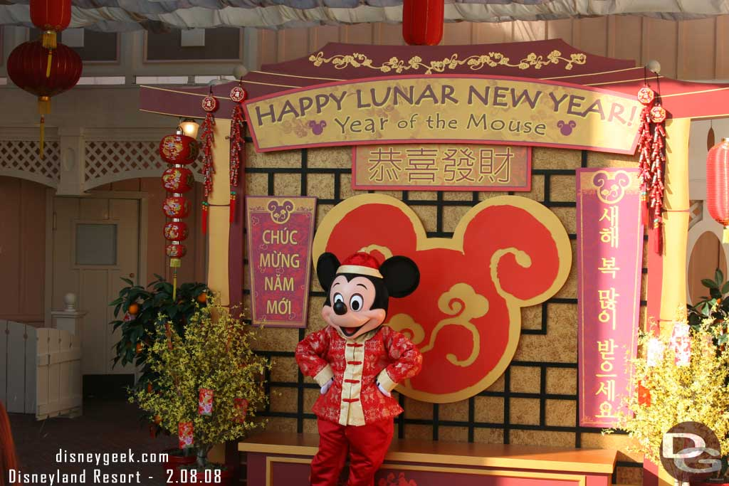 Lunar New Year will be celebrated at the #Disneyland Resort this weekend.  Mickey from the 2008 celebration.