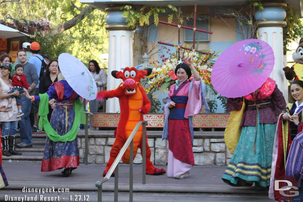 Mulan and Mushu at the 2012 #Disneyland Resort Lunar New Year Celebration