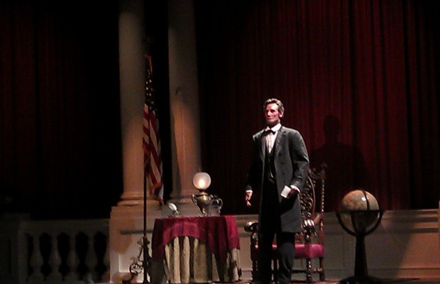 President Lincoln performing Great Moments with Mr Lincoln