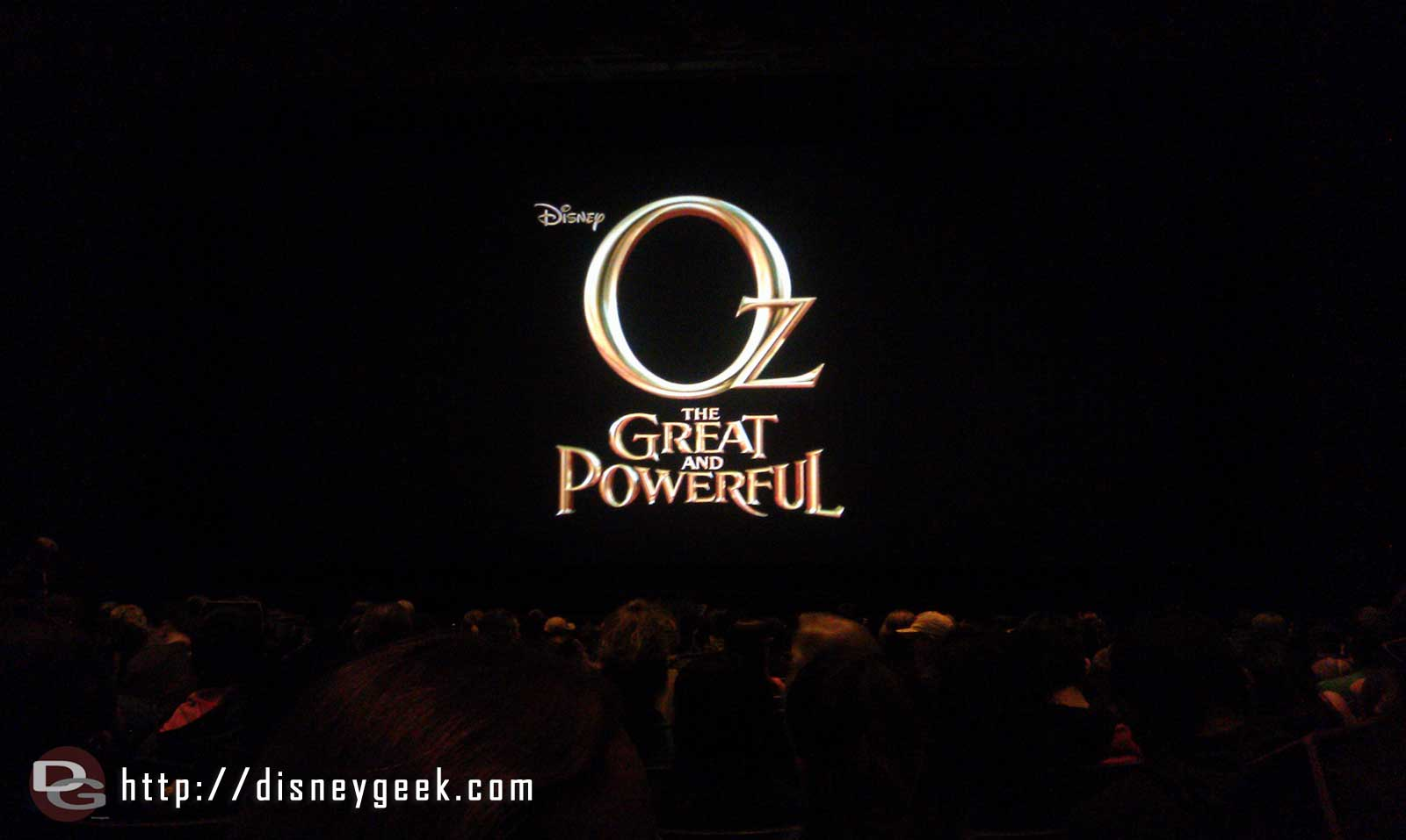 Ready for the Annual Passholder preview of Oz the Great and Powerful in the Muppet Theater