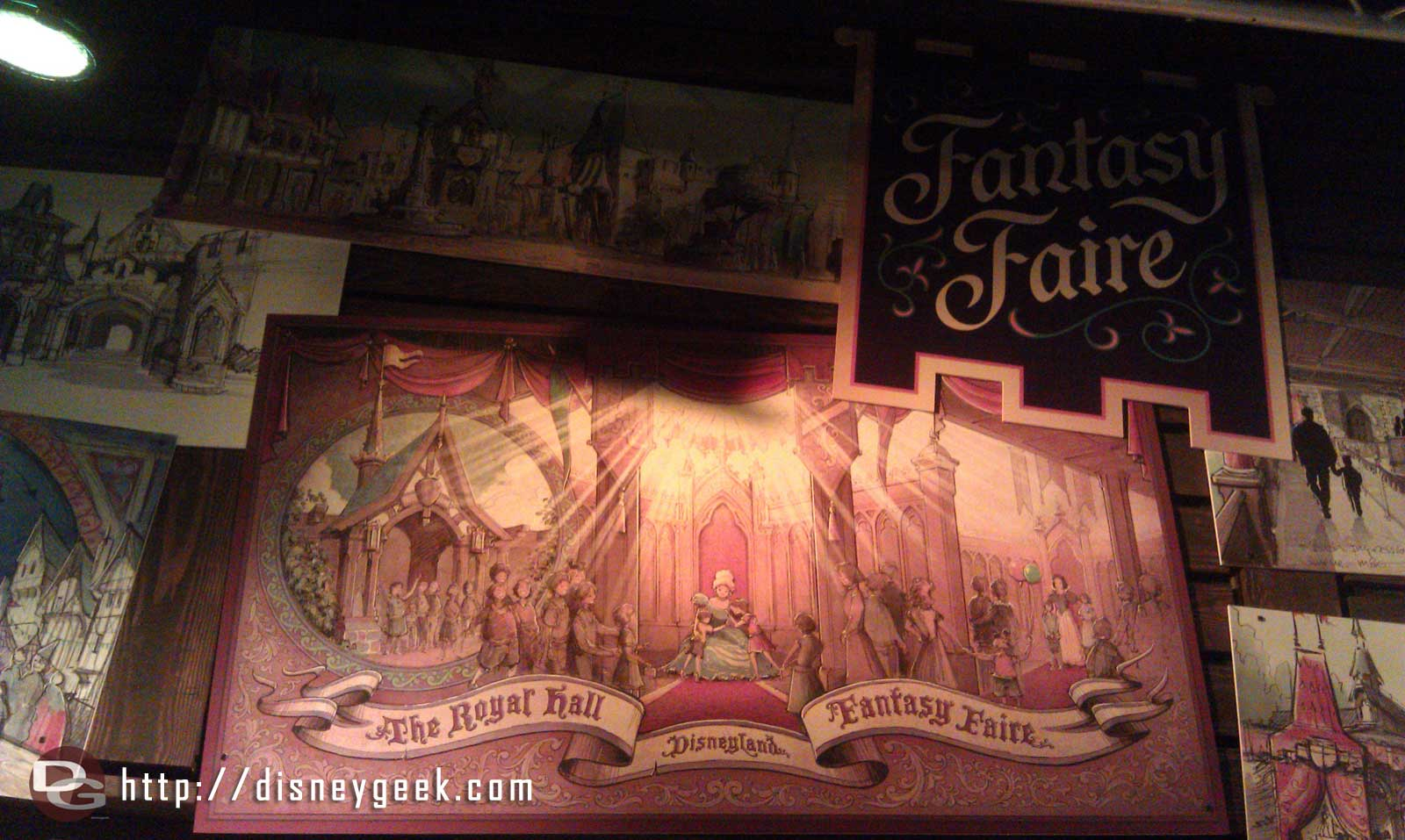 Stopped by the Blue Sky Cellar to spend more time at the Fantasy Faire Exhibit