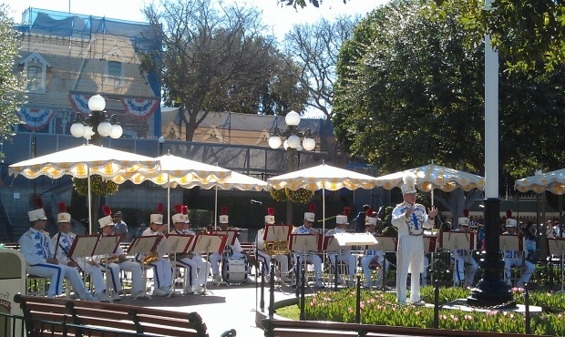 The Disneyland Band in Town Square