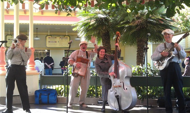 The Ellis Island Boys at Paradise Garden Bandstand today.