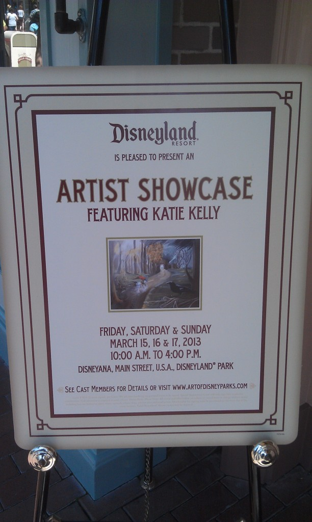 An artist showcase featuring Katie Kelly this weekend Disneyana