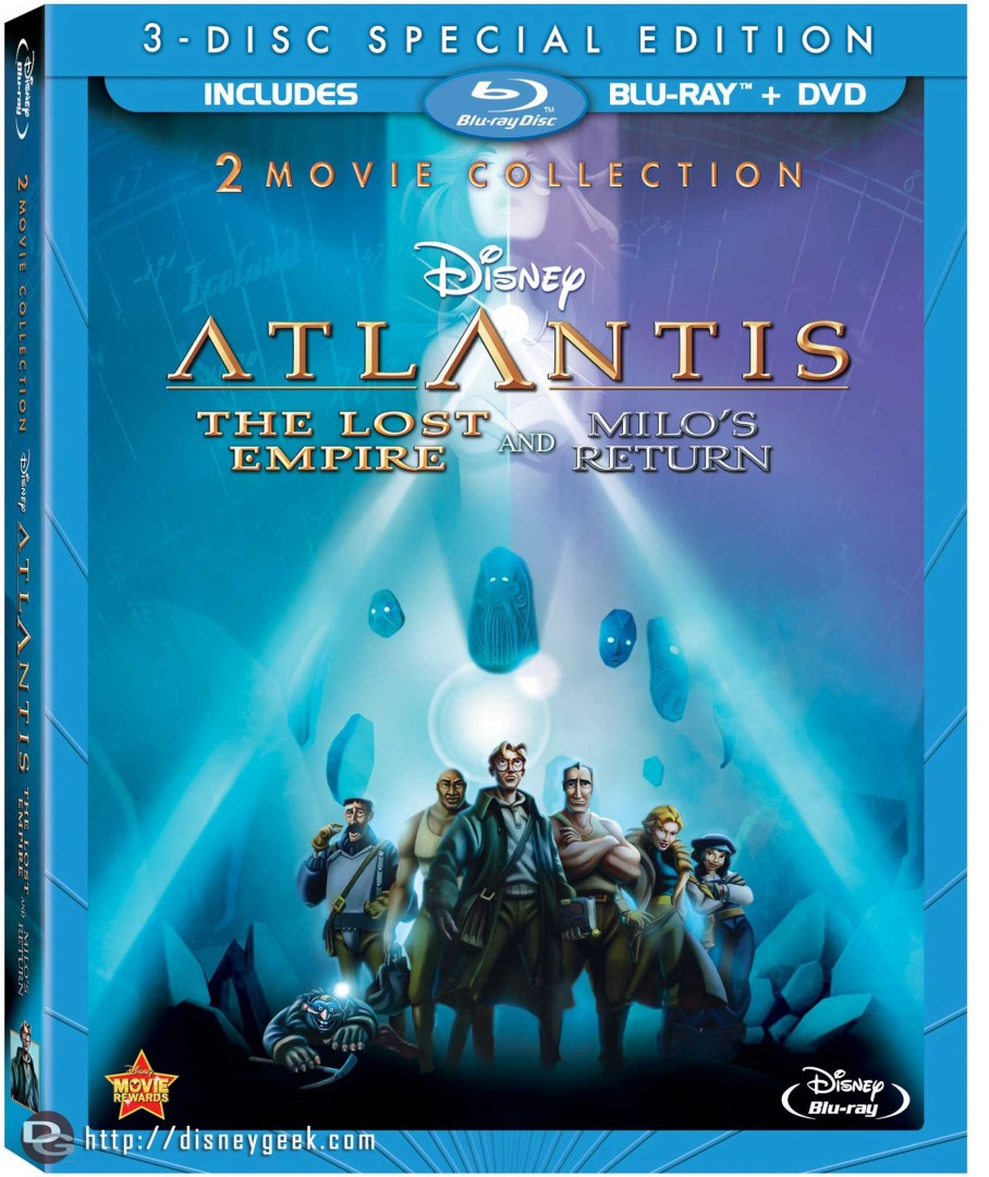 "Home Video Release – ""Atlantis: The Lost Empire"" and ""Atlantis: Milo's Return"" – June 11, 2013"