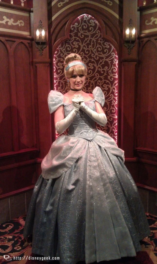 Cinderella in the Royal Hall at the Fantasy Faire
