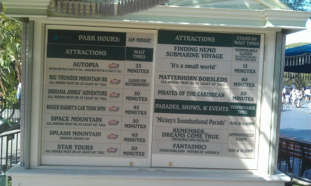 Current #Disneyland wait times