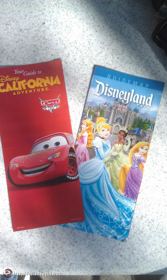 Disneyland guidemaps feature Fantasy Faire, DCA still had CarsLand