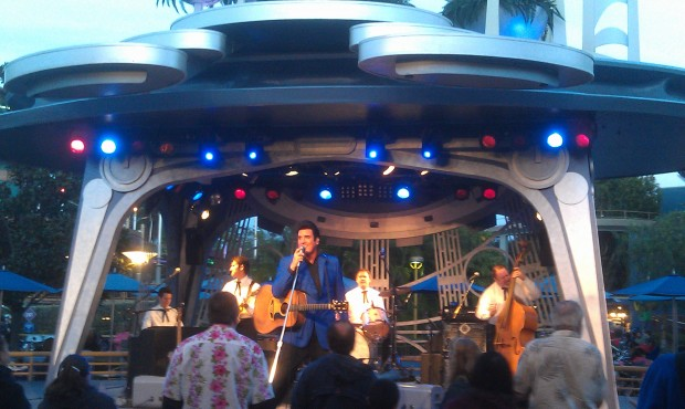 Elvis, Scot Bruce, is performing at Tomorrowland Terrace this weekend